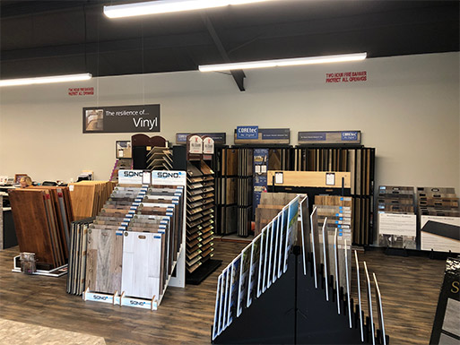 The Lakeside Floors To Go new showroom and warehouse at 12118 FM 1960E