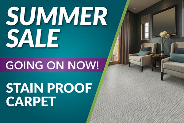 Save on stain proof carpet!