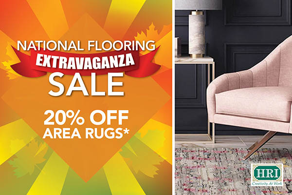 20% off HRI area rugs*
