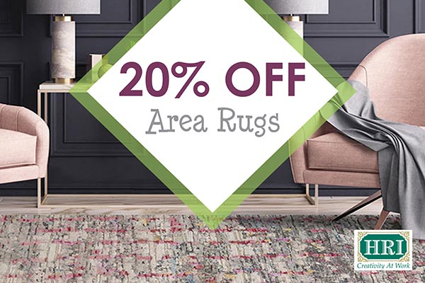 20% OFF HRI Area Rugs - *Minimum purchase of $999. Valid on HRI rugs only.