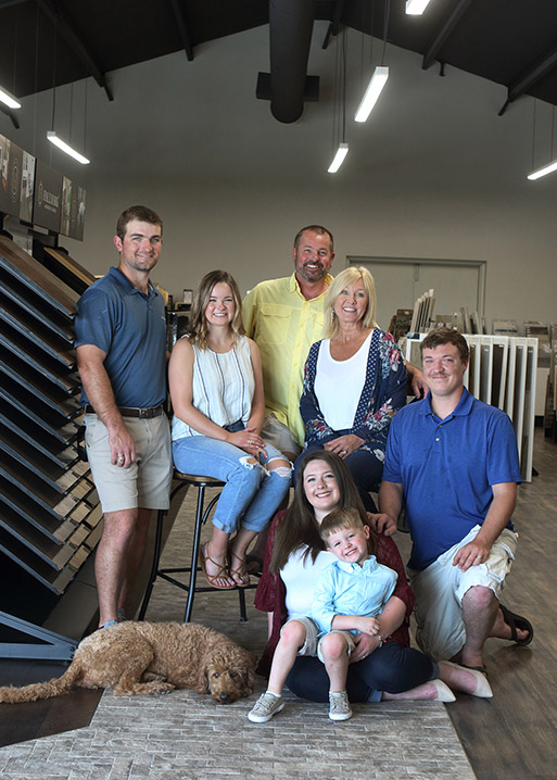 The Lakeside Floors To Go Family in Huffman, Texas. We are your local, family-owned flooring store!